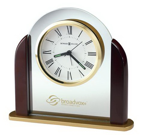 Printed Derrick Tabletop Glass Clock