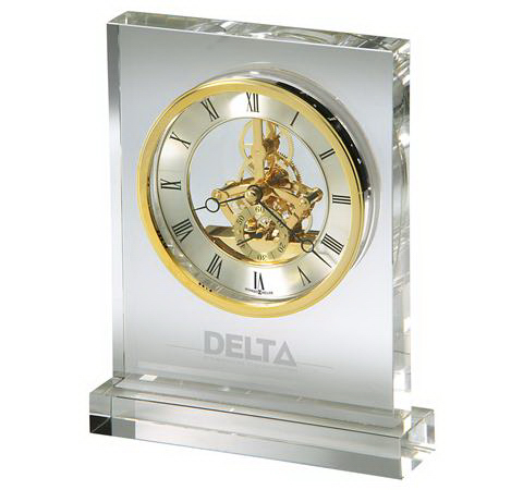 Imprinted Prestige Skeleton Movement Clock