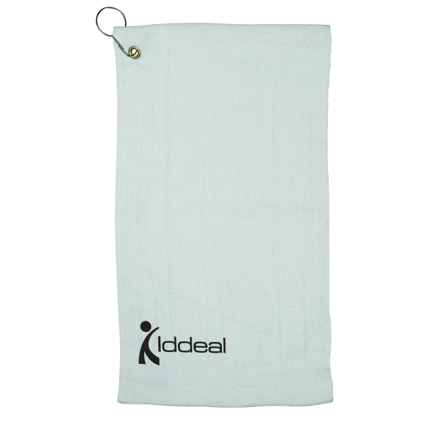 Imprinted LogoTec Fingertip Towel with Grommet