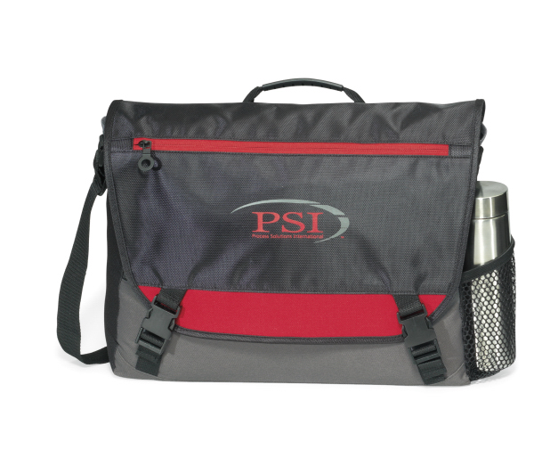 Imprinted Intensity Computer Messenger Bag