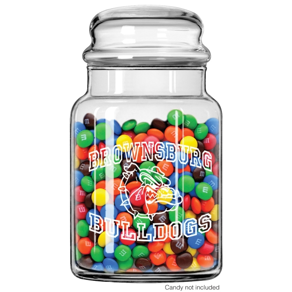 26 oz Glass Candy Jar with Bubble Top Lid