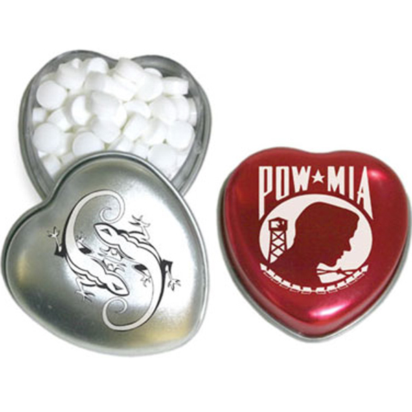 Customized Heart Tin Small-mints
