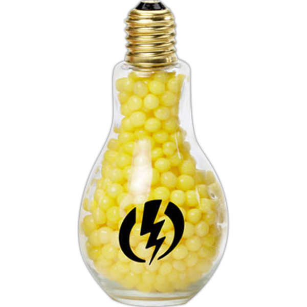 Printed Jumbo light bulb filled with Jelly Bellys
