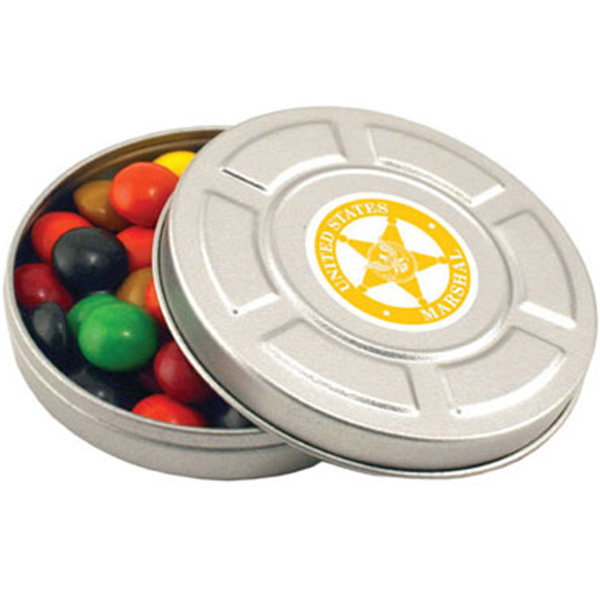 Printed Mini Movie Reel Tin-Peppermints
