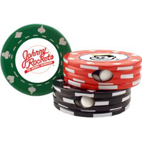 Imprinted Poker Chip Tin - Empty