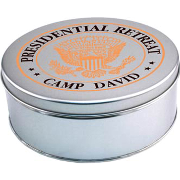 Imprinted Large Round Tin with cookies