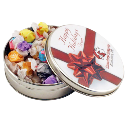 Custom Large Round Tin, Salt Water Taffy