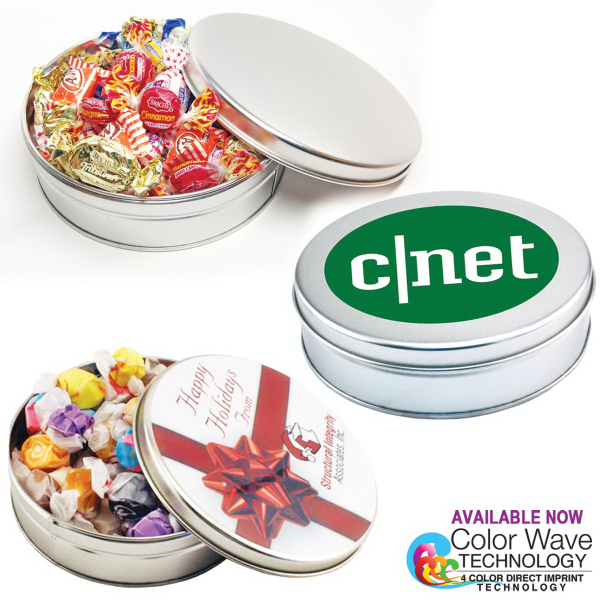 Customized Small Round Tin with Jolly Rancher candy
