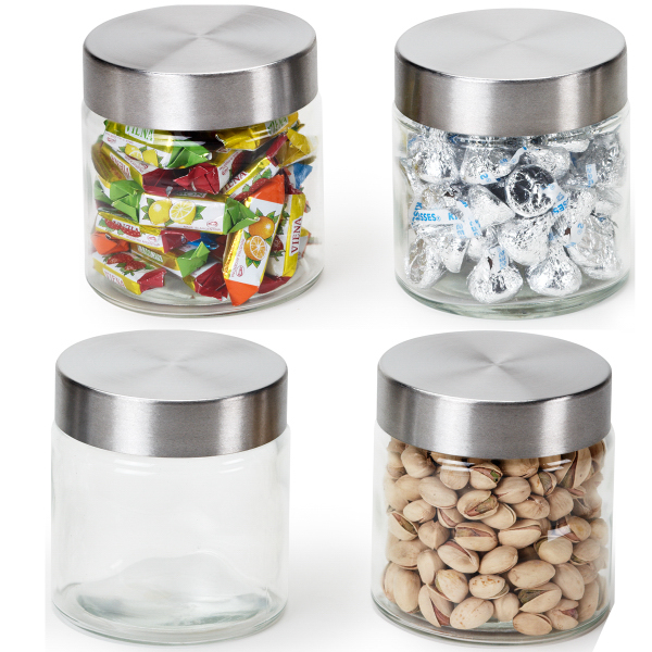 Personalized Glass jar with hard candy