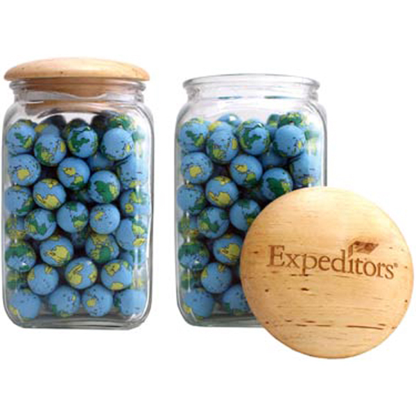 Personalized Large Arched Jar-Hard Candy