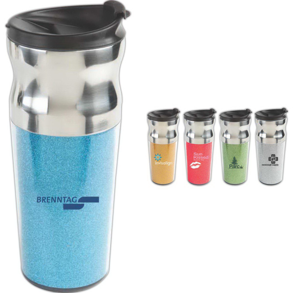 The Glitzy 20 oz Double Walled Stainless Steel Tumbler
