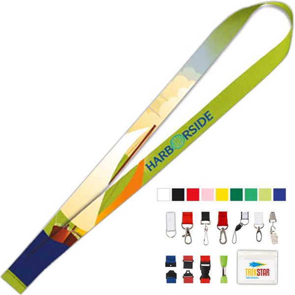 Imprinted Polyester 4 Color Lanyard