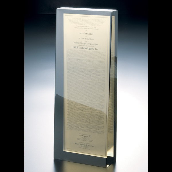 Printed Paperweight/Award