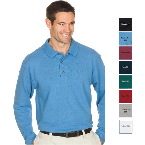 Printed Reebok Superior Long Sleeve Pique Polo