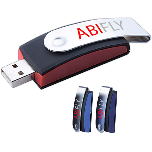 Printed Retractable USB 2.0 Flash Drive
