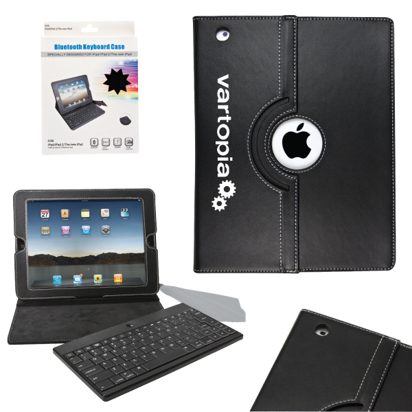 Promotional Revolution iPad Case with Bluetooth Keyboard