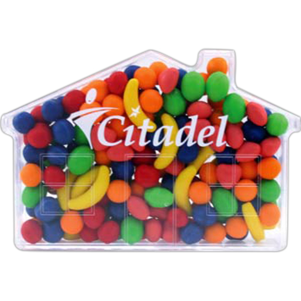 Personalized House shape jar with Jelly Beans