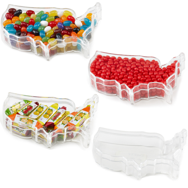 Promotional USA container with Jelly Beans