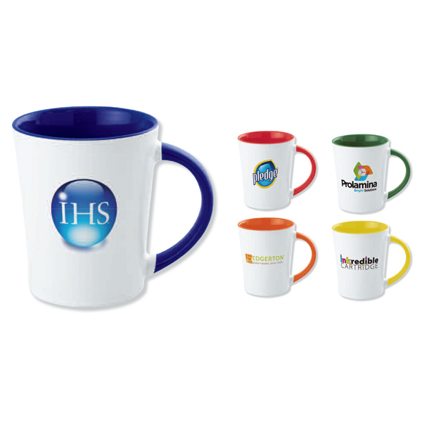 Promotional Full color two-tone stoneware mug - 12 oz