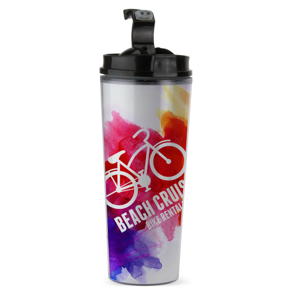Double wall 14 oz. tumbler with Paper/PVC insert