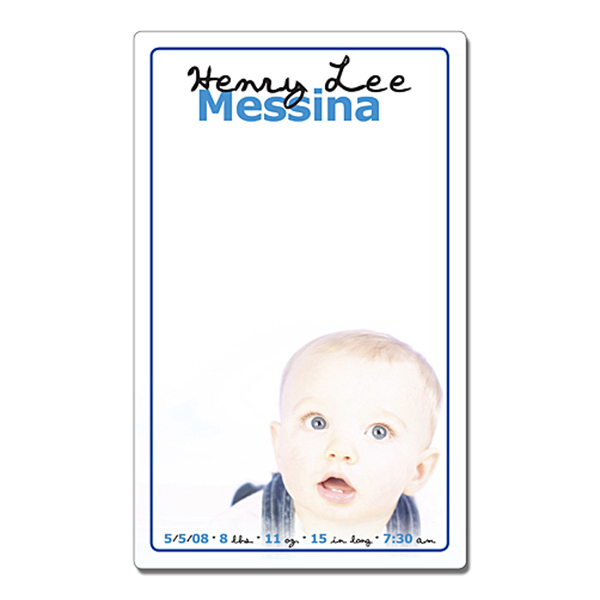 Custom Announcement Mini Memo Board - 5.25x8.5 Laminated