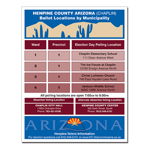 Custom Political Flyer - 8.5 x 11 - 4 pt. Gloss Text