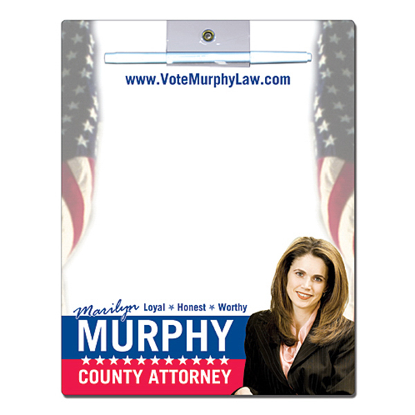 Custom Political Memo Board - 8.5 x 11 Laminated - 14 pt