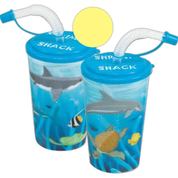 3-D Kid's Cup with Straws