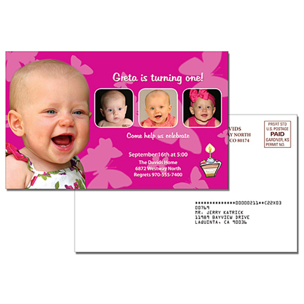 Personalized Announcement Laminated Card - 5.25 x 8.5
