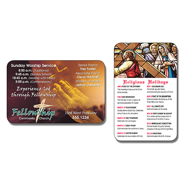 Personalized Religious Laminated Wallet Card - 3.5 x 2.25