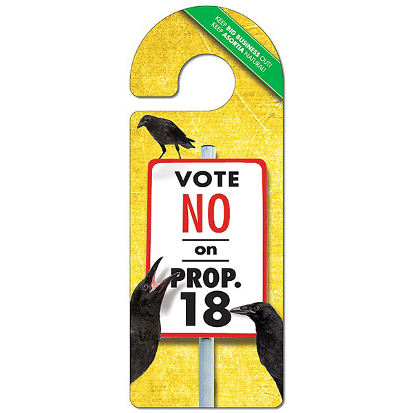 Custom Political Door Hanger - 4 x 10.5 Laminated - Round Handle