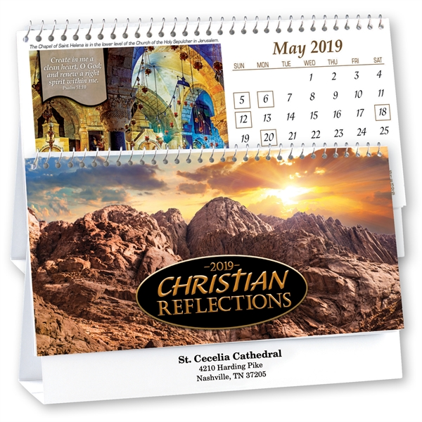 Kingswood Collection Christian Reflections Desk Calendar