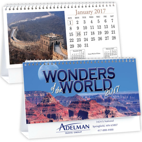Kingswood Collection Wonders of the World Desk Calendar