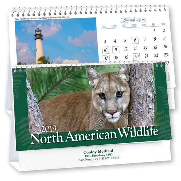 Kingswood Collection Wildlife Desk Calendar