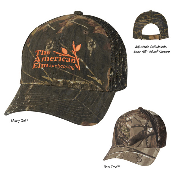 Hunter's Retreat Mesh Back Camouflage Cap