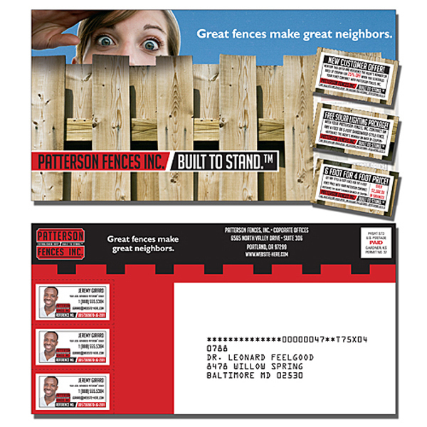 Custom Laminated Postcard with 3 Perforated Coupons (10.5x5.5)