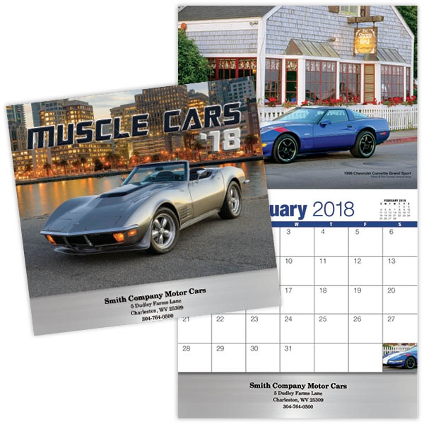 Kingswood Collection Muscle Cars Wall Calendar