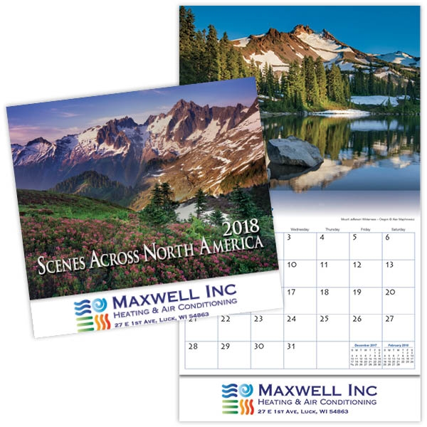 Kingswood Collection Scenes Across America Wall Calendar