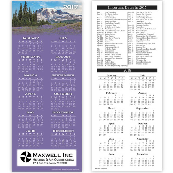 Economy Collection 2-sided Scenic Calendar