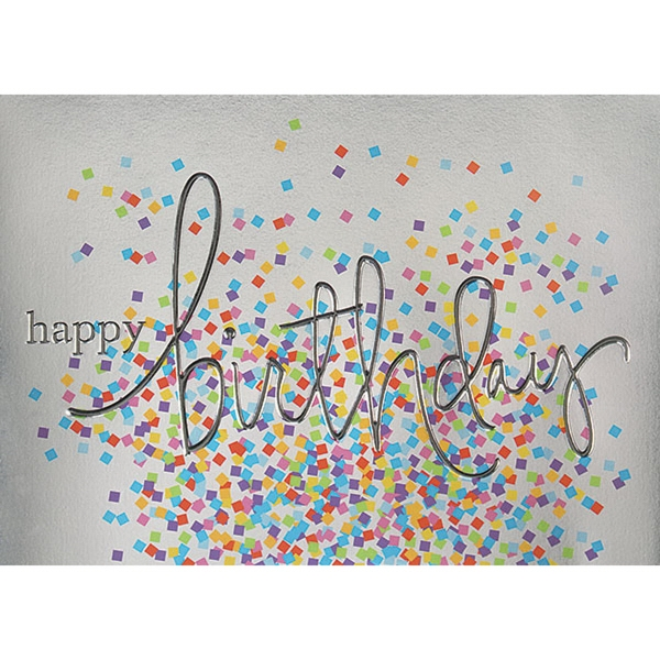 Colorful Confetti Greeting Card