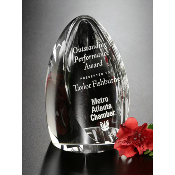 Personalized Clipped Oval Award
