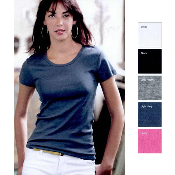Alternative (R) ladies 1 x 1 baby rib scoop neck T-shirt