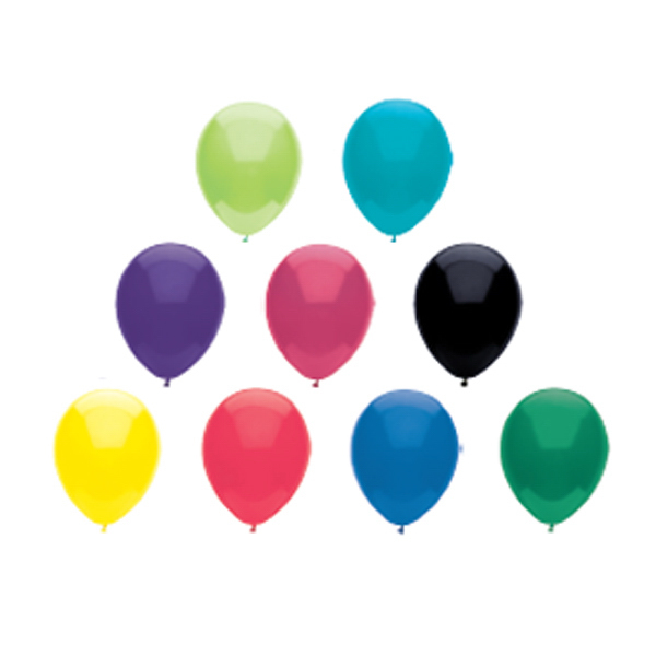 Low Cost Imported Latex Balloon-Crystal/Fun Colors