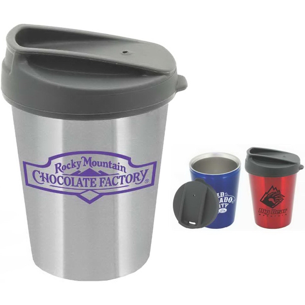 Pike 12 oz. Silicone Lid Stainless Steel Tumbler