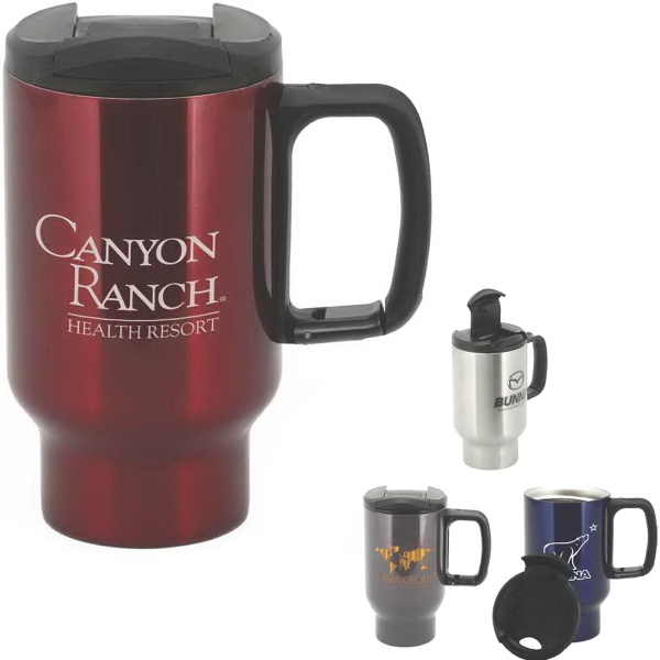 Panama 16 oz Double-Wall Stainless Steel Mug