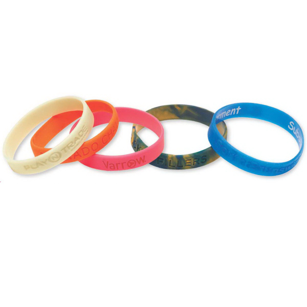Customized Silicone Wrist Band-Debossed