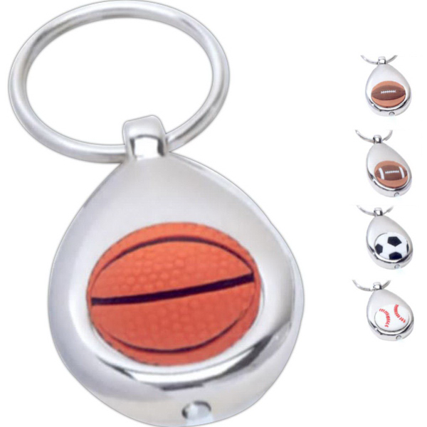 Customized LED Lighted Sports Key Ring