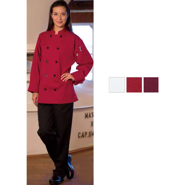 Personalized Moroccan Long Sleeve White Chef Coat