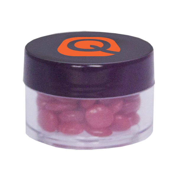 Custom Twist Top Container Black Cap filled with Cinnamon Red Hot