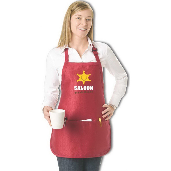 Adjustable Neck Mid-Length 3 Pocket Apron